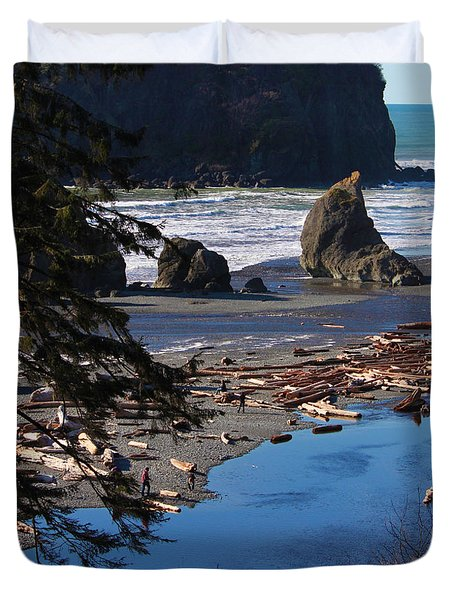 Ruby Beach IIi Duvet Cover by Jeanette C Landstrom