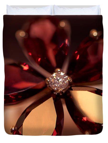 Ruby Ring. Spirit Of Treasure Duvet Cover by Jenny Rainbow