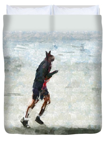 Run Rabbit Run Duvet Cover by Steve Taylor