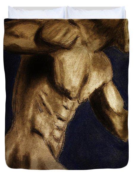 Running Man Duvet Cover by Michael Cross