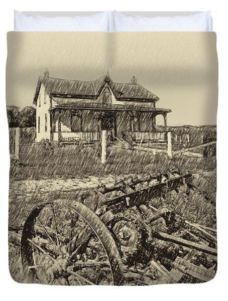 Rural Ontario Antique Duvet Cover by Steve Harrington