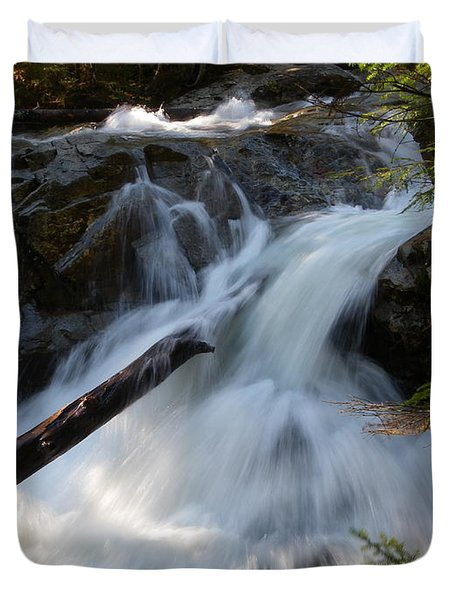 Rushing Falls Duvet Cover by Sarah Lamoureux