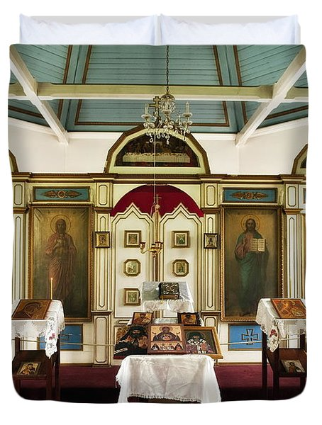 Russian Orthodox Church Duvet Cover by John Greim