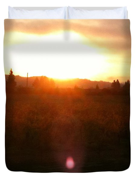 Russian River Sunrise Duvet Cover