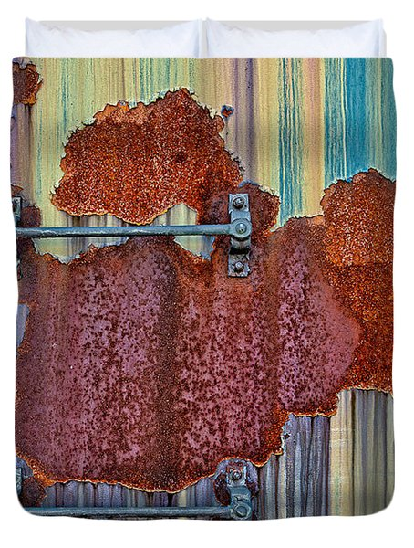 Rusted Art Duvet Cover by Susan Candelario