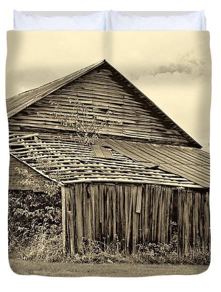 Rustic Charm Sepia Duvet Cover by Steve Harrington
