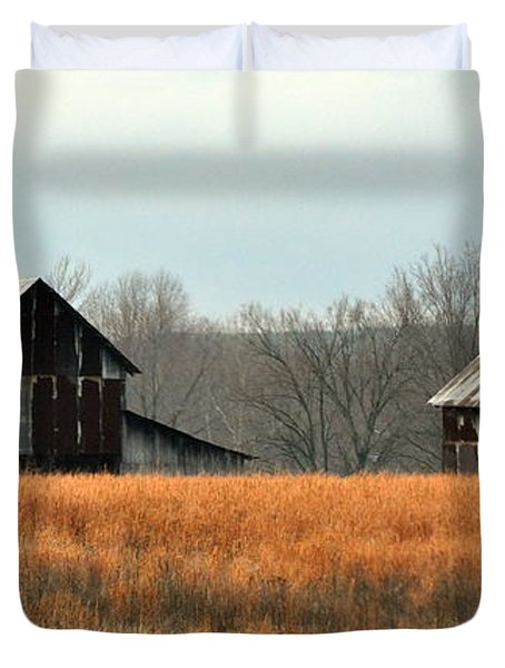 Rustic Illinois Duvet Cover by Marty Koch