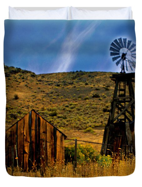 Rustic Windmill Duvet Cover by Marty Koch