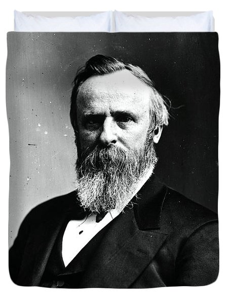 Rutherford B. Hayes, 19th American Duvet Cover by Photo Researchers