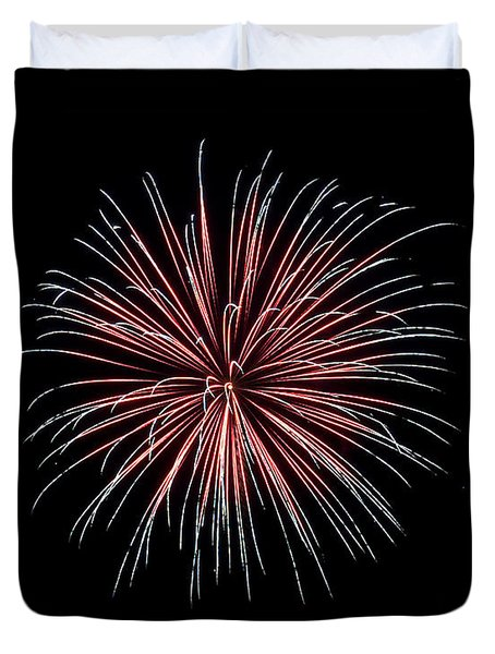 Duvet Cover featuring the photograph Rvr Fireworks 12 by Mark Dodd