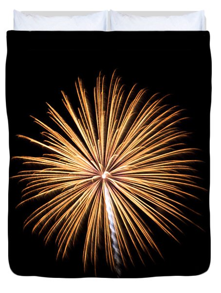 Duvet Cover featuring the photograph Rvr Fireworks 27 by Mark Dodd