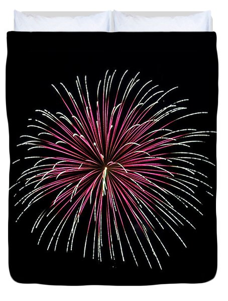 Duvet Cover featuring the photograph Rvr Fireworks 8 by Mark Dodd