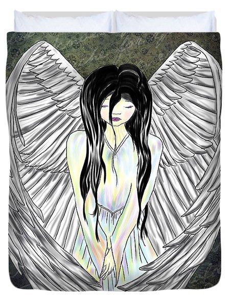Sad Angel Duvet Cover