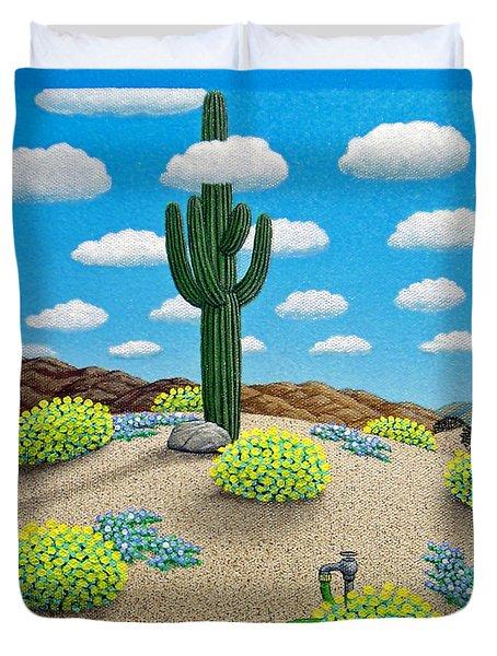 Saguaro Duvet Cover by Snake Jagger