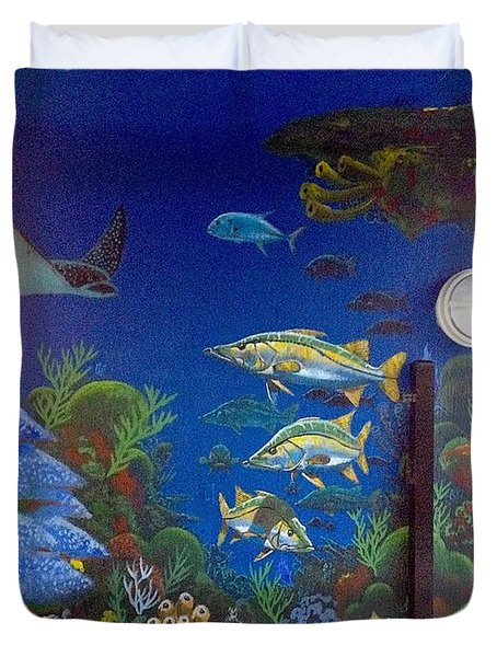 Sailfish Splash Park 9 Duvet Cover by Carey Chen