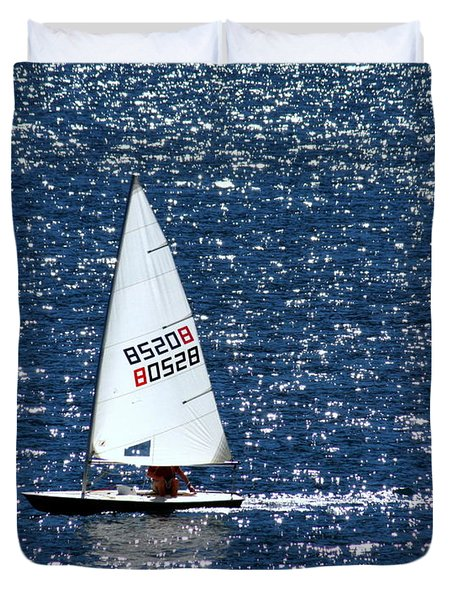 Duvet Cover featuring the photograph Sailing by Patrick Witz