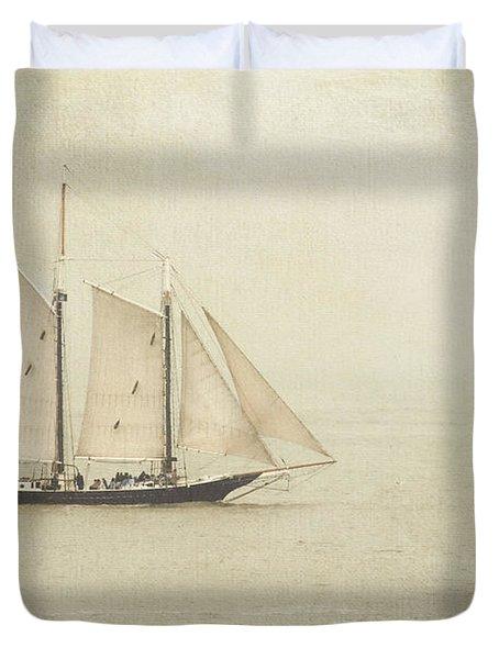 Sailing Ship Duvet Cover by Hannes Cmarits