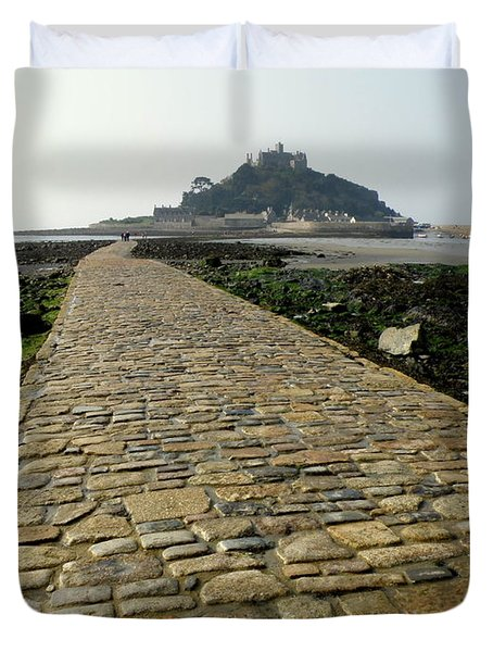 Saint Michael's Mount Duvet Cover by Lainie Wrightson