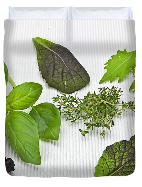 Salad Greens And Spices Duvet Cover by Joana Kruse
