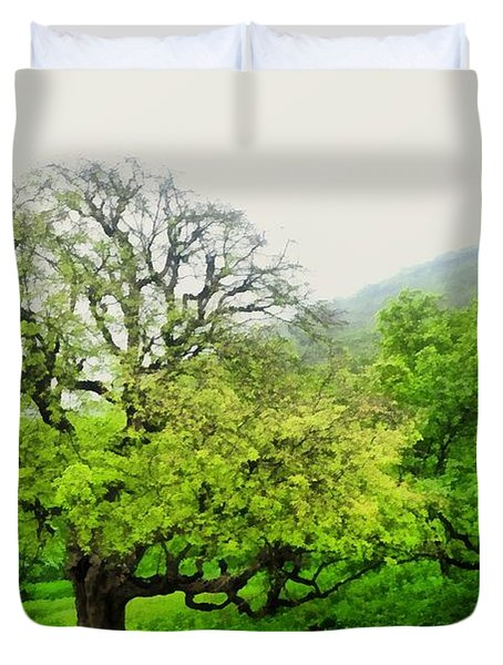 Salalah Green Duvet Cover