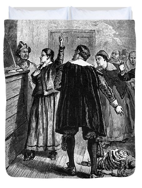 Salem Witch Trials, 1692-93 Duvet Cover by Photo Researchers