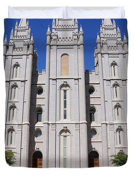 Salt Lake Mormon Temple Duvet Cover by Gary Whitton
