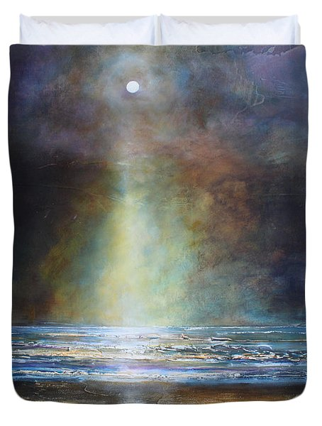 Salvation Beach Duvet Cover by Toni Grote