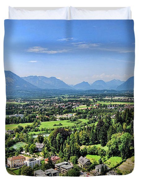 Salzburg IIi Austria Europe Duvet Cover by Sabine Jacobs