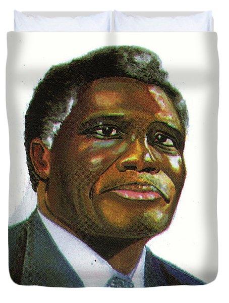 Samuel Kobia Duvet Cover by Emmanuel Baliyanga