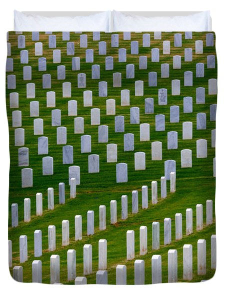 San Diego Military Memorial 2 Duvet Cover by Bob Christopher