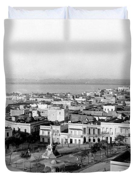 San Juan - Puerto Rico - C 1900 Duvet Cover by International  Images