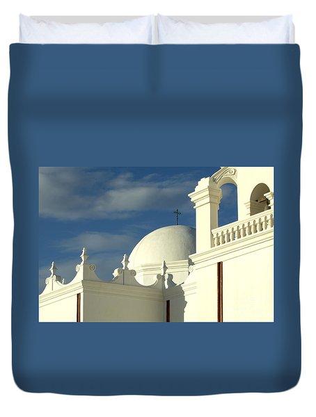 San Xavier Del Bac Mission Arizona Duvet Cover by Bob Christopher