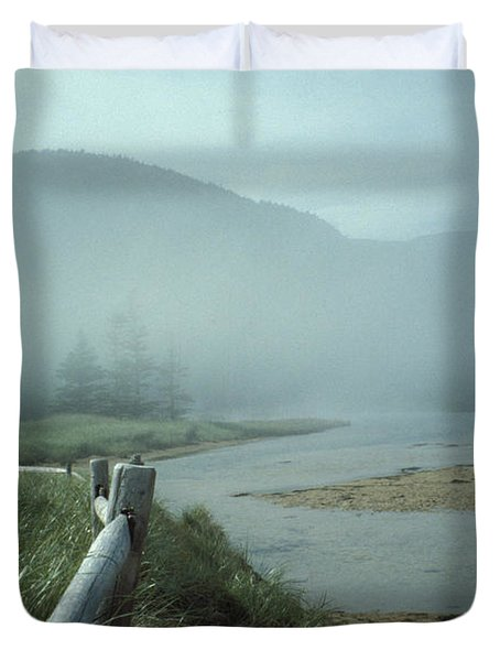 Duvet Cover featuring the photograph Sand Beach Fog by Brent L Ander