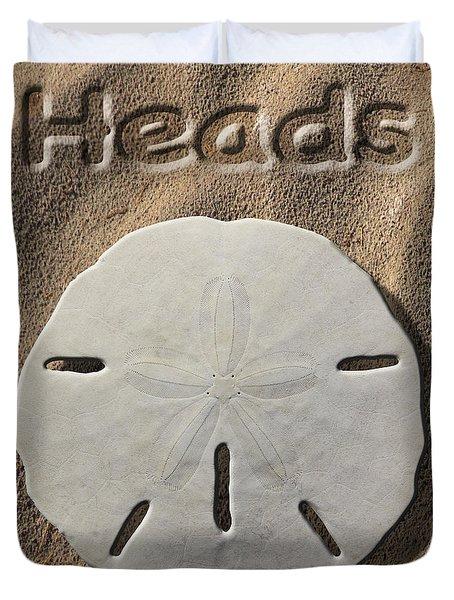 Sand Dollar Heads Duvet Cover by Mike McGlothlen