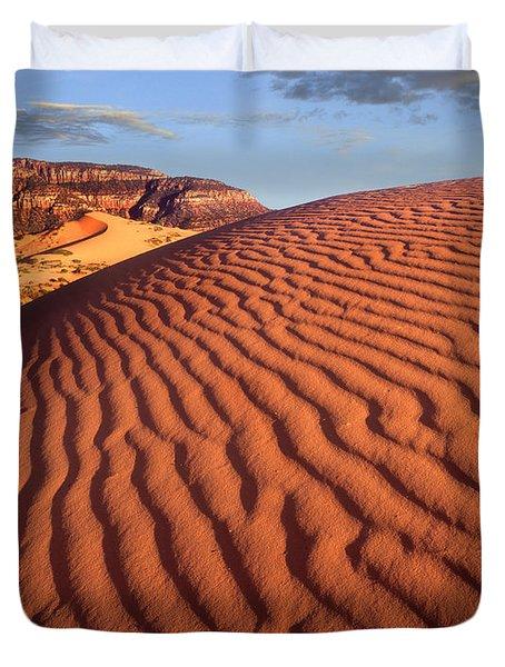 Sand Dunes Coral Pink Sand Dunes State Duvet Cover