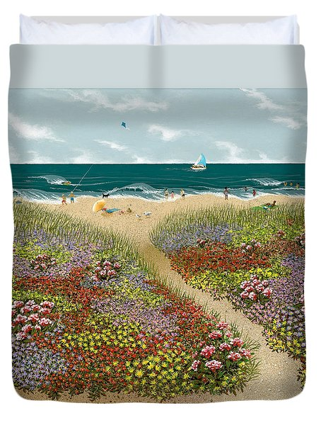 Sand Path Duvet Cover by Katherine Young-Beck