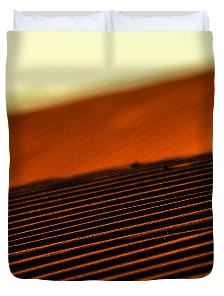 Sand Rows Duvet Cover