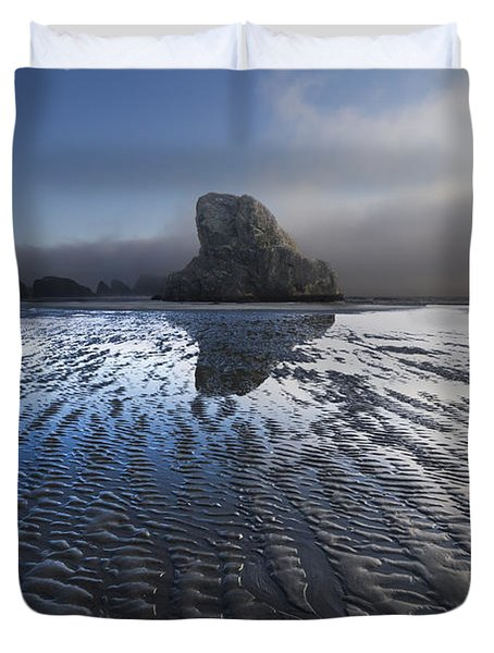 Sand Sculptures Duvet Cover by Debra and Dave Vanderlaan