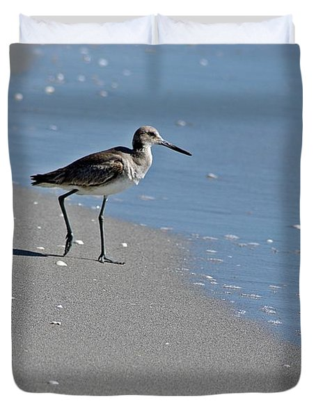 Sandpiper 2 Duvet Cover by Joe Faherty