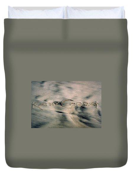 Sandscript Duvet Cover