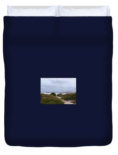 Sandy Path To The Beach Duvet Cover by Patricia Taylor