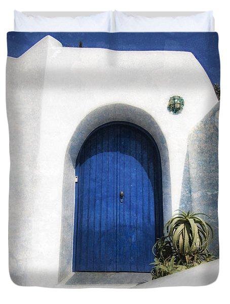 Santorini 1 Duvet Cover by Mauro Celotti