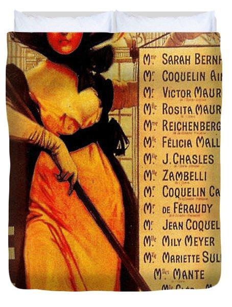 Sarah Bernhardt Duvet Cover by Georgia Fowler