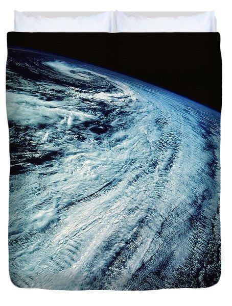 Satellite Images Of Storm Patterns Duvet Cover by Stocktrek Images