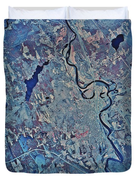 Satellite View Of Concord, New Duvet Cover by Stocktrek Images