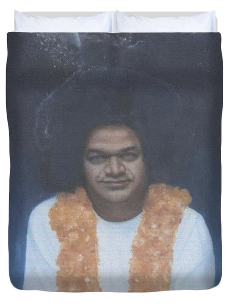 Sathya Sai Baba Divine II Duvet Cover by Anne Provost