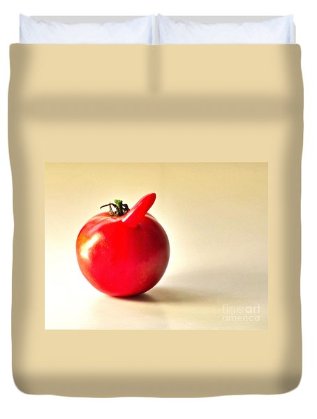 Saucy Tomato Duvet Cover by Sean Griffin