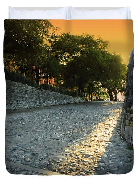 Duvet Cover featuring the photograph Savannah Sunset by Paul Mashburn