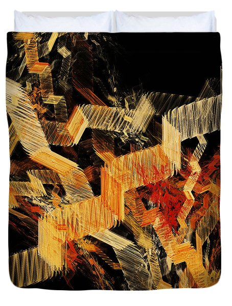 Scare Case Stair Case Duvet Cover by Andee Design