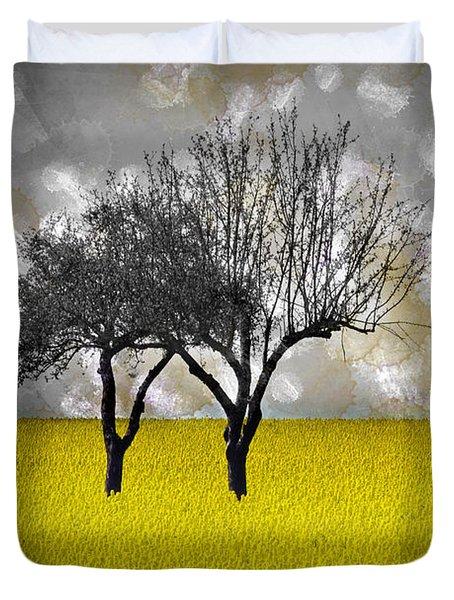 Scenery-art Landscape Duvet Cover by Melanie Viola